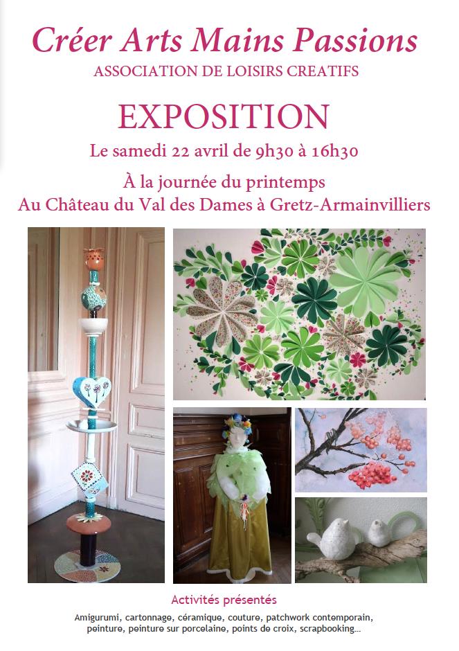 Exposition le 22 avril 2017 - Créer Arts Mains Passions